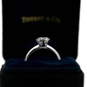 Tiffany & Co Knife Edge 1.35 Carat Engagement Ring
